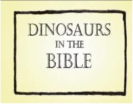 Dinosaurs in the Bible